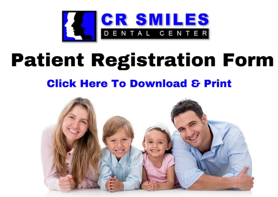 CR Smiles Dental Center Patient Registration Form